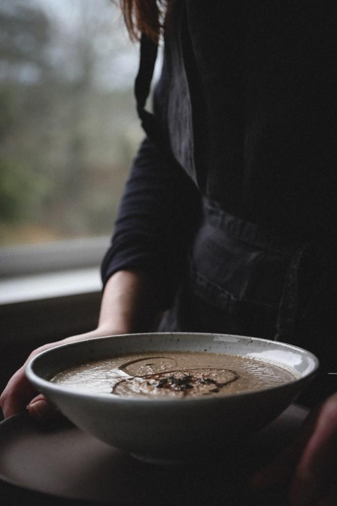 Porcini Mushroom, Hazelnut & Nutmeg soup || Photography & styling by Christiann Koepke of PortlandFreshPhoto.com-12